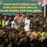 Kapolsek Tanjung Duren Laksanakan Giat Karya Bhakti TNI Dalam Rangka Memperingati Hari Pahlawan