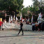 Aksi Jilid V Brigade GPI Tagih Janji PT Toba Bara Bayar Tanah Rakyat